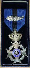 BELGIQUE - Ordre de Leopold II Croix de Chevalier unlingue avec boite d'origine