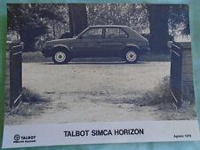 Talbot Simca Horizon Press Photo brochure Aug 1979 No 1