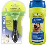Genuine Furminator De-Shedding Tool: SMALL Dog SHORT Hair / Furminator Shampoo