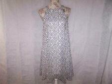 Betsey Johnson Polka Dot Dress Size 4 Flare Sleeveless Lined Black White