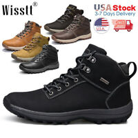 Men Work Boots Casual Outdoor Waterproof Leather Martin Boots Ankle Hiking Shoes