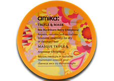 Amika Triple Rx Hair Mask w/ Obliphica oil - (For Dry & Damaged Hair) 16.9 OZ