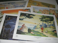 SET OF SIX LIMITED EDITION RUPERT BEAR PRINTS /300 HAND SIGNED by JOHN HARROLD
