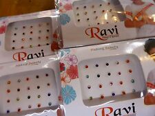 1 x Pack Indian Small Coloured Crystal Bindi Dots Stick on Jewellery Bollywood