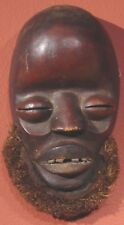Dan  - Ngere tribe,   mask with raffia, Liberia, much use