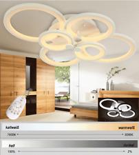 N6067 LED Deckenleuchte weiße Metallrahmen Lichtfarbe/ Helligkeit einstellbar A+