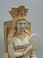 Cybele Enthroned Drumming Amazonian Sybil Greek Roman Pagan Goddess Statue #CYB