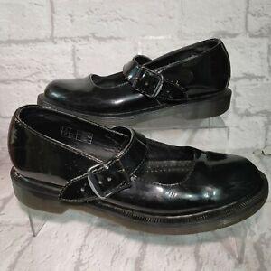 DR Martens Shoes - Patent Black - Mary Jane Mariel UK Size 6 EUR 39 Leather Docs