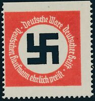 Stamp Germany Revenue WWII 3rd Reich Envelope Seal Label MNH