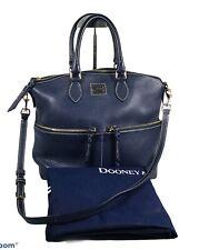 DOONEY BOURKE Women's Doubled Pockets In Pebble Leather Shoulder/ Hand Bag/ Blue