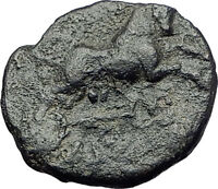AMPHIPOLIS in MACEDONIA 1stCenBC RARE R1 Ancient Greek Coin ARTEMIS BULL i62271