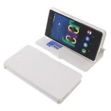 CUSTODIA PER WIKO FEVER 4G book-style protettiva cellulare a libro bianca
