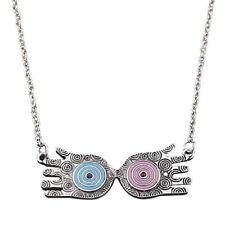 Harry Potter Luna Lovegood Glasses Eye Choker Zinc Alloy Chain Pendant Necklace
