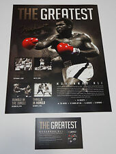 Muhammad Ali Signed The Greatest Official Boxing Foiled Print with COA