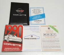1990 CHEVROLET CORVETTE OWNERS MANUAL OPERATORS USER GUIDE V8 5.7L ZR-1 BASE OEM