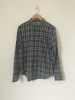 Size Medium Levis Blue Check Lumberjack Shirt Long Sleeve Button Down Collar