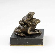 Skulptur Bronze Plastik Figuren Paar Frösche 9937823