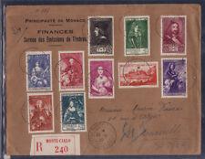 MONACO  grande   enveloppe 1er jour  princes princesses et vue série de 1939
