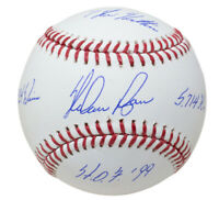 Nolan Ryan Signed MLB Baseball Insc. 324 Wins/HOF 99/5,714 K's/7 No Hitters BAS