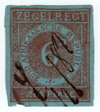 (I.B) Transvaal Revenue : Duty Stamp 6d (1875)