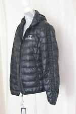 ORIGINAL Ea7 Emporio Armani Black Stripe Down Jacket Size M  6GPB71 PN29Z BLACK