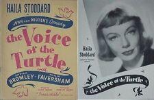 1947 VOICE OF THE TURTLE BROADWAY PLAY BK (HAILA STODDARD STAR, JOHN VAN DRUTEN