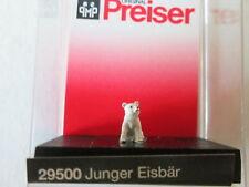 ORSO POLARE MINIATURA PREISER 29500 JUNGER EISBAR YOUNG POLA BEAR PLASTICI 1pz