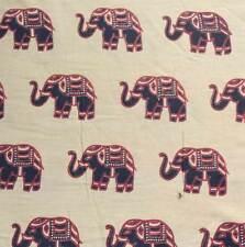 100% Cotton Elephant print Fabric Loose Cloth Material price per yard