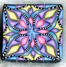 polymer clay cane, raw, square, Kato, Premo # 01270  7/8