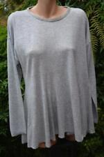 Sussan Silver Grey Marle Top Size Xxl. Bead Neck Trim . Flared Hem