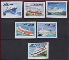 VIETNAM 1115/1120** Bateaux Non dentelés, 1990 Vietnam 2158-63 SHIPS Imperf MNH