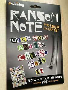 New #Winning Ransom Note Fridge Magnets - Spell Out Your Demands 335 Characters
