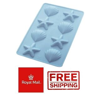 Shells Silicone Mould Wax Melts Ice Chocolates Star Fish Sea Mold Clam Scallop