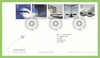 G.B. 2002 Airliners set on Royal Mail First Day Cover,  Tallents House