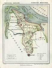 Antique Map-NETHERLANDS-TOWN PLAN-HONTENISSE-ZEELAND-Kuyper-Kuijper-1865