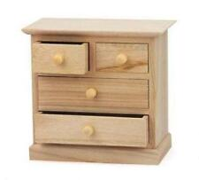 Mini 17cm Craft Wooden Cabinet Large & Small Drawers Jewellery Paint Decorate