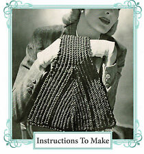 How to make this vintage 1940s wartime chic,stylish  handbag -crochet pattern