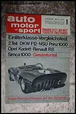AMS Auto Motor Sport 1/65 DKW F 12 Prinz 1000 L Opel Kadett R 8 Simca 10
