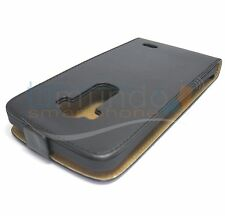 FUNDA de PIEL PREMIUM NEGRA ULTRA-SLIM para LG G FLEX D955 en ESPAÑA CUERO
