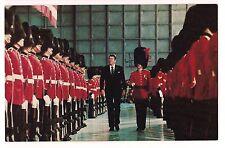 President RONALD REAGAN POSTCARD Uplands Air Force Base Honor Guard Canada 1981