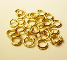 18 GA WIRE 6 MM O/D 140 P. 1/2 OZ NON TARNISH GOLD COLOR JUMP RING