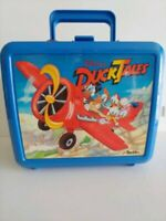 Vintage Duck Tails Blue Plastic Lunch Box with Thermos