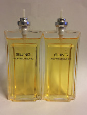 2 Sung Perfume by Alfred Sung for Women 1.7oz NO BOX  **NO sprayer** USED