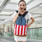 American Flag Union Jack Style Backpack Shoulder School Bag BackPack Canvas Pop