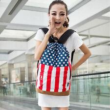 Hot American Flag Union Jack Style Backpack Shoulder School Bag BackPack Canvas