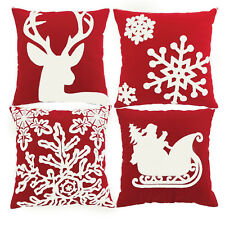 4PCS Throw Pillow Case Christmas Pillow CoverHome Car Bed Cushion Decorative