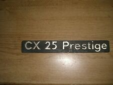 Emblem / Badge Citroen CX 25 Prestige aus Metall, ca. 245 x 30 mm