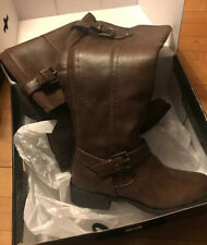 Guess Womens Size 6 Hyde Dark Brown Casual Zip Knee High Riding Boots F12-640