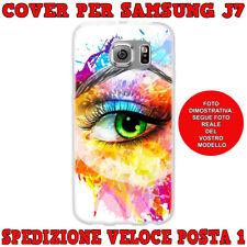 CUSTODIA COVER MORBIDA IN TPU PER SAMSUNG GALAXY J7 (J700) 2015 OCCHIO COLORATO