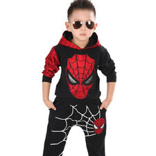 Spiderman Outfits Kids Boys Hoodies Tops + Pants Costume Tracksuit Clothes Set